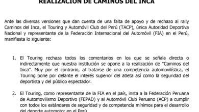 Photo of Comunicado Touring y Automóvil Club del Perú sobre Caminos del Inca 2019