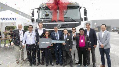 Photo of Transportes La Campiña S.A.C. fue la ganadora del Volvo FMX durante Perumin 34