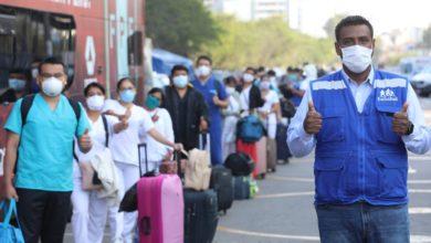 Photo of Bus de la selección transportó a personal médico de EsSalud que se internará en la Villa Panamericana