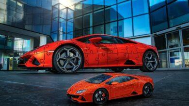 Photo of Lamborghini:  El Huracán  EVO en un puzzle 3D